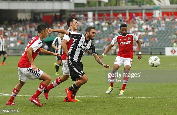 Grigoris Kastanos of Juventus FC in action during the match between Juventus FC and South China of Hong Kong at Hong Kong Stadium on July 30 2016 in...