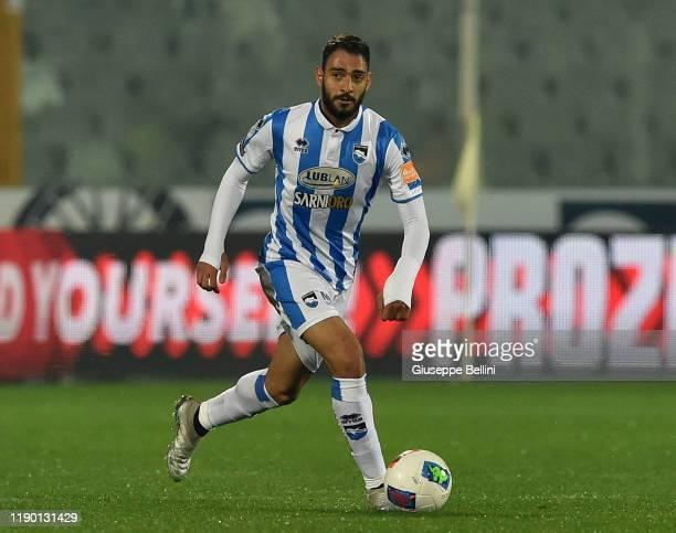 Grigoris Kostanos of Pescara Calcio in action during Serie B match between Pescara Calcio and US Cremonese at Adriatico StadiumGiovanni Cornacchia on...