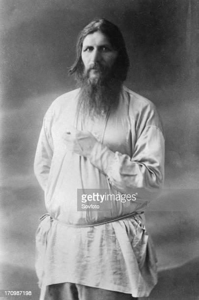 Grigory yefimovich rasputin spiritual advisor to tsarina alexandra assassinated in 1916 by members of the russian royal court