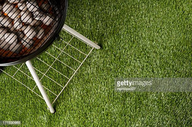 grill aerial - grill concept stock photos and pictures