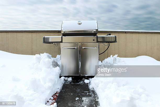 Grill in the snow
