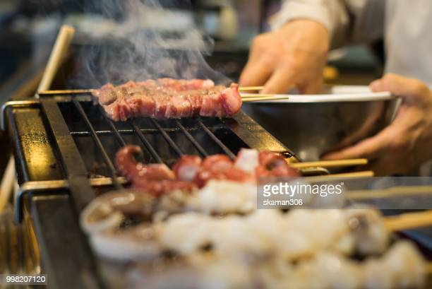 grill kobe wagyu beef with yakitori japanese style