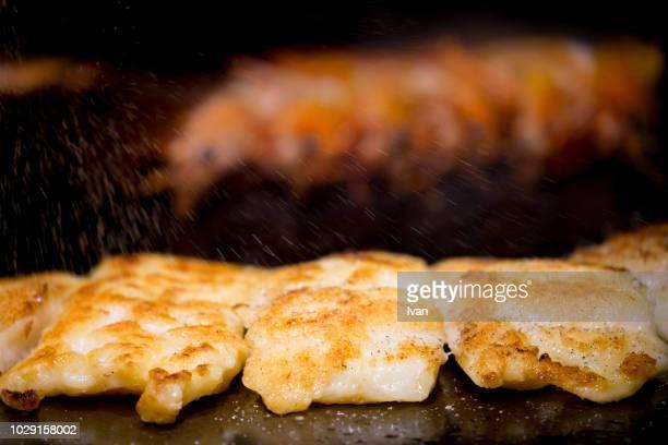Grill, Stir Pan Fried Fish Steak