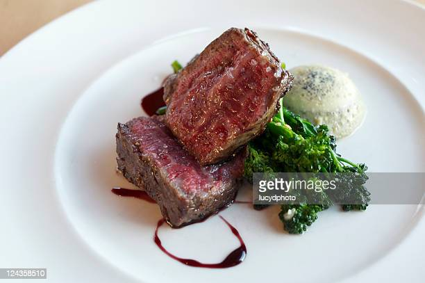 Grilled beef rib eye steak