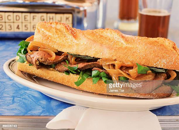 Grilled Beef Sandwich with Caramelized Onions