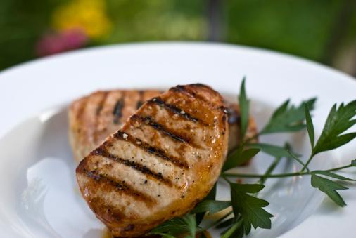 Grilled Boneless Pork Chops 149053518