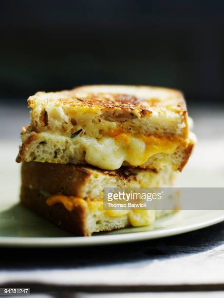 Grilled cheese with aged cheddar on rosemary bread