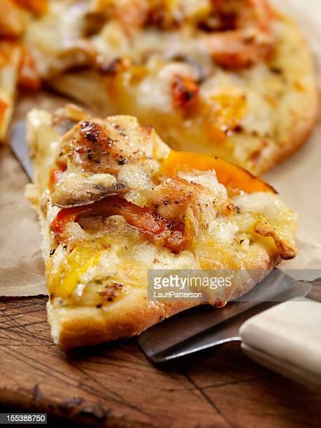 グリルチキンピザ、焼き唐辛子