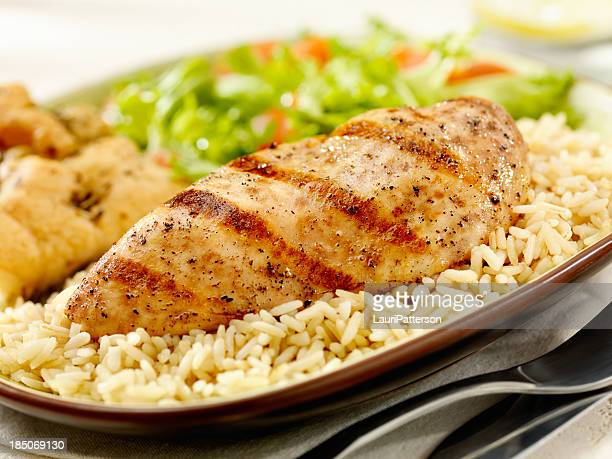 Grilled Chicken Breast with Brown Rice