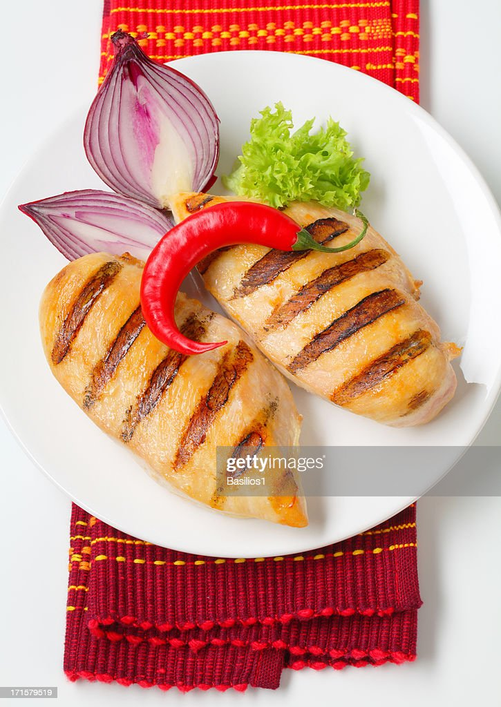 grilled chicken breasts : Stock Photo