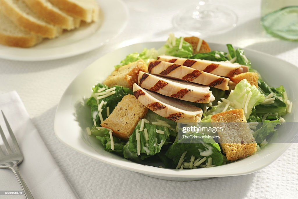 Grilled Chicken Caesar Salad : Stock Photo