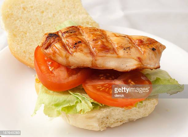 grilled chicken fillet burger sandwich