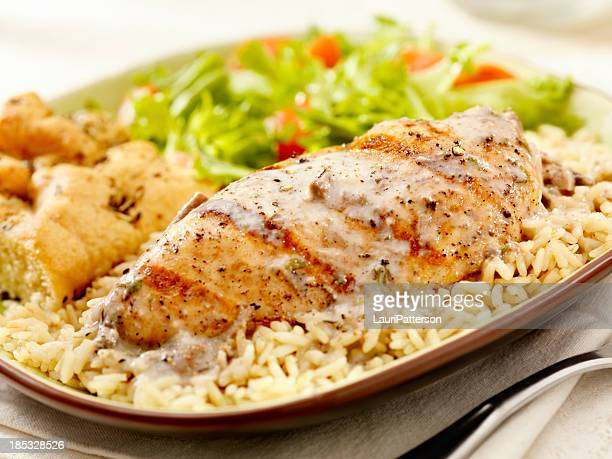 Grilled Chicken in a Mushroom Sauce