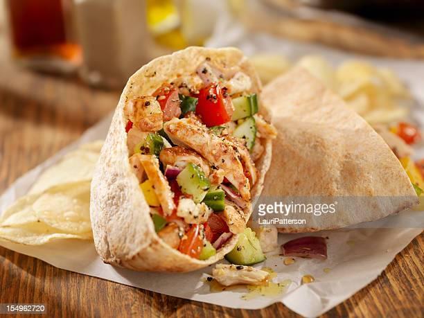 Grilled Chicken Salad Pita Sandwich