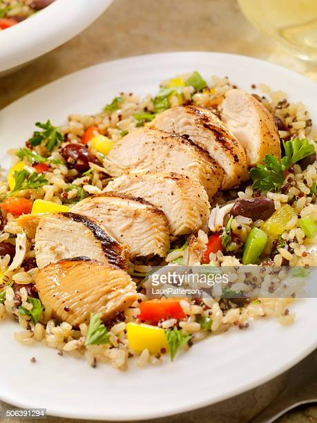 Grilled Chicken with Quinoa and Brown Rice Salad