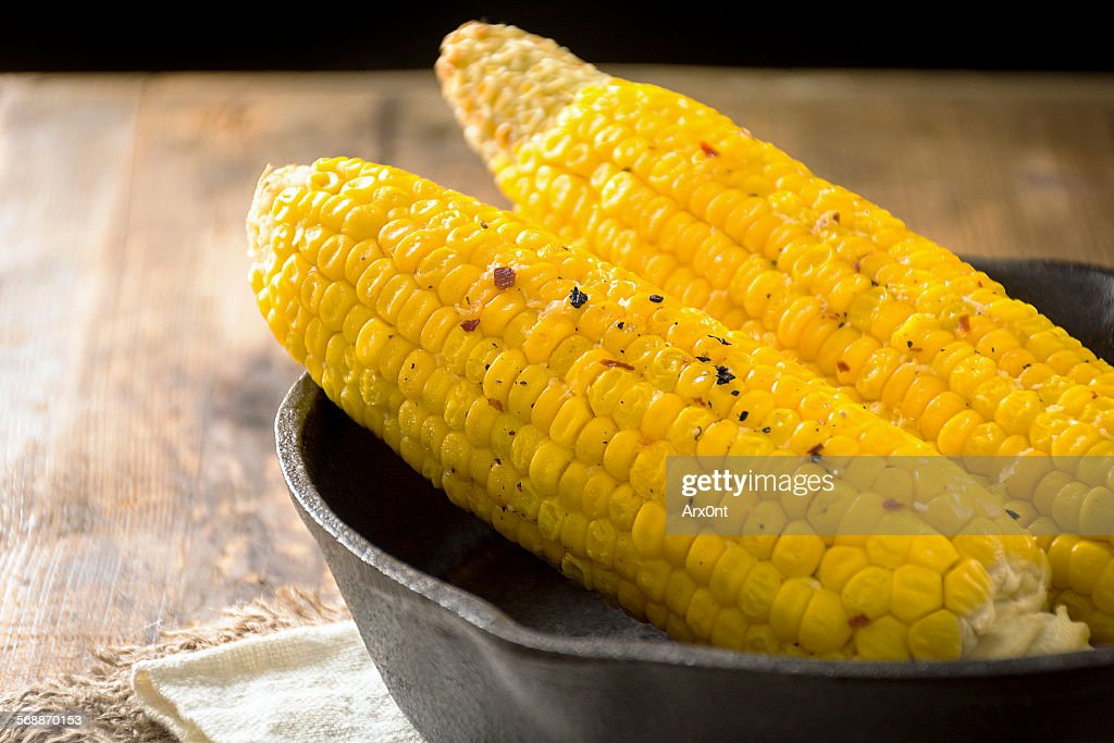 Grilled corn : Stock Photo