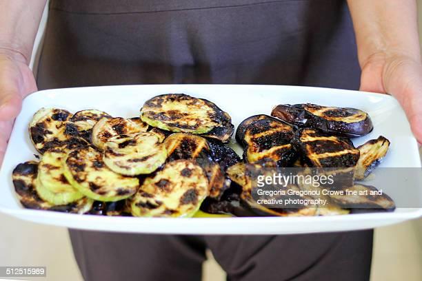 grilled eggplant - gregoria gregoriou crowe fine art and creative photography 個照片及圖片檔