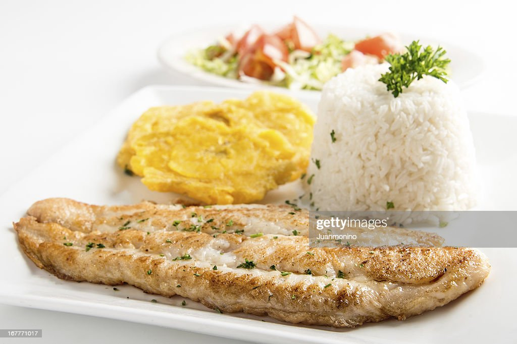 Grilled fillet of fish : Stock Photo