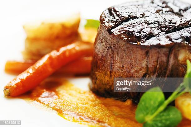 Grilled fillet steak looking juicy and delicious