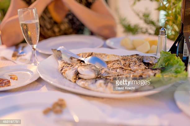 Grilled fish, a dinner for two