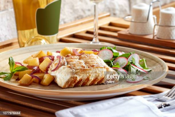 grilled fish - grouper stock pictures, royalty-free photos & images