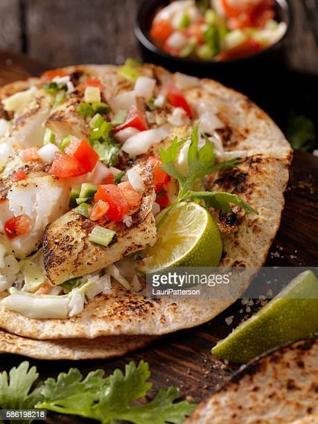 Gegrillter Fisch-Tacos