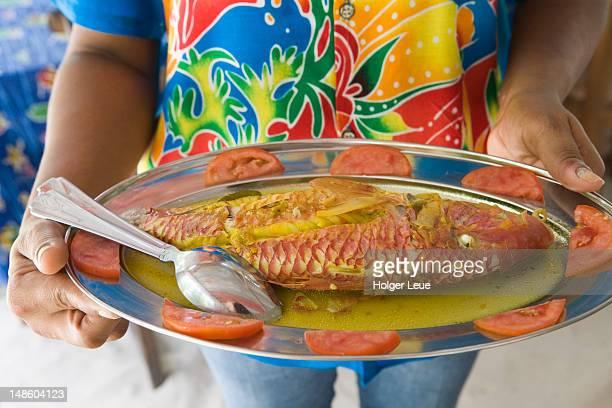 Grilled goatfish at Lanbousir Restaurant.