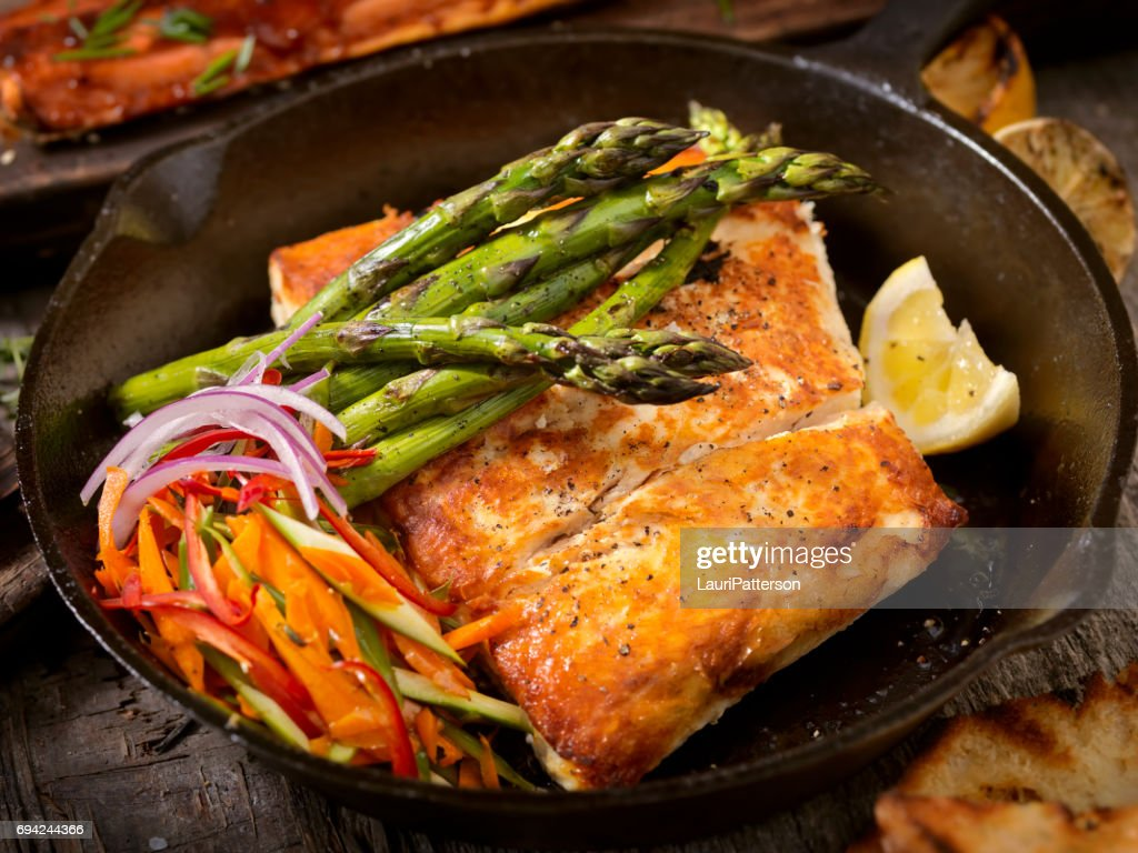 Grilled Halibut : Stock Photo