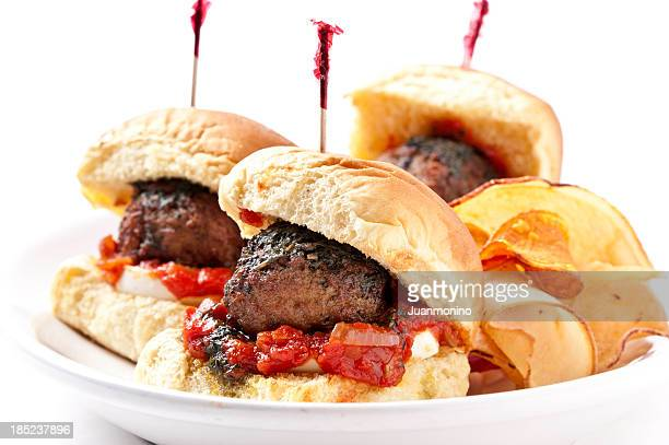 Grilled Meat Ball Mini burgers
