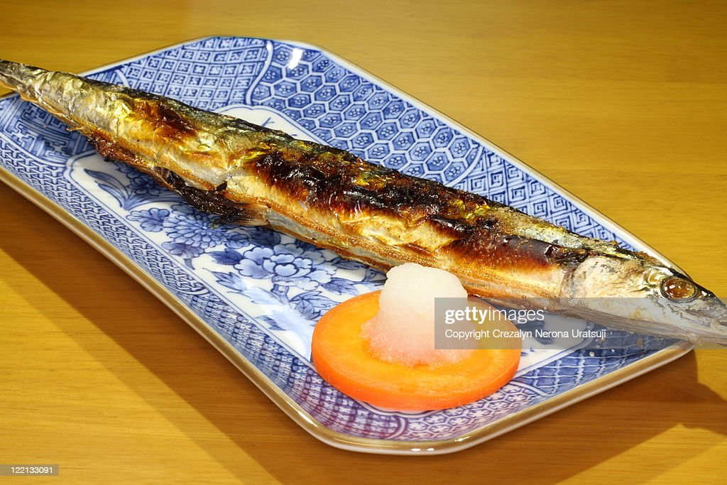 Grilled pacific saury : Stock Photo
