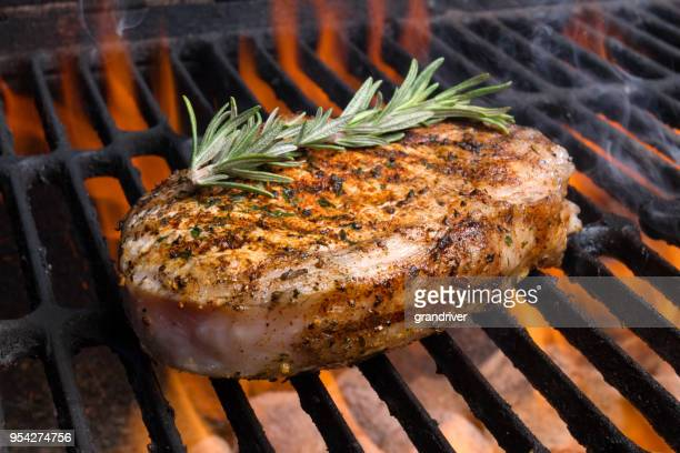 grilled pork chop for ketogenic diet - pork stock pictures, royalty-free photos & images