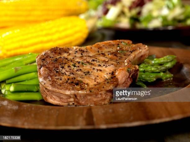 Chuletas de cerdo asado con espárragos 2