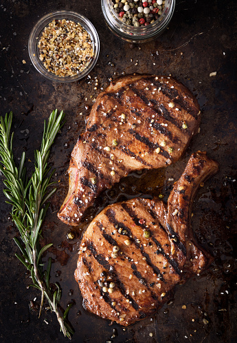 Grilled pork chops with spices 1133724920