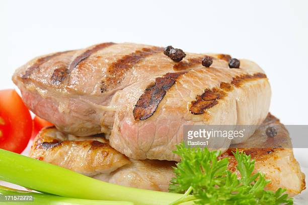 grilled pork steaks with spices