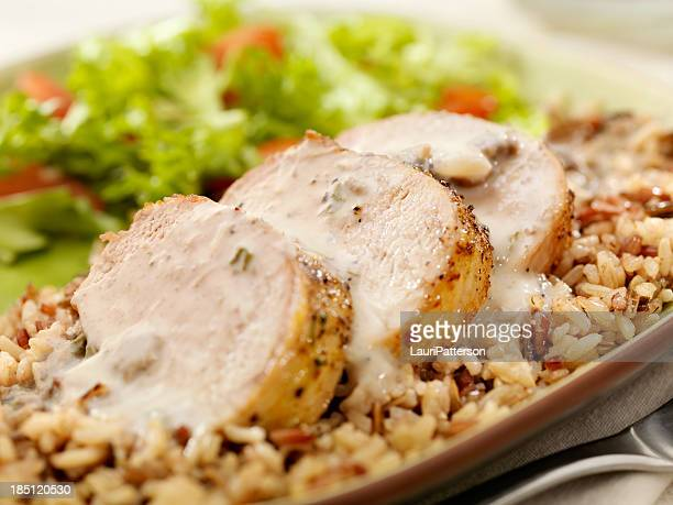 Grilled Pork Tenderloin with Wild Rice