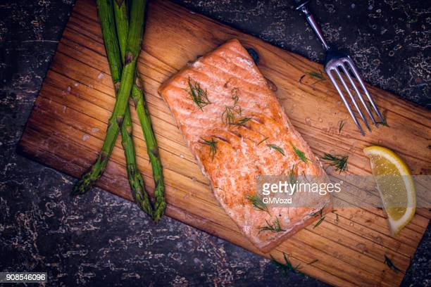 grilled salmon fillet - catch of fish stock pictures, royalty-free photos & images