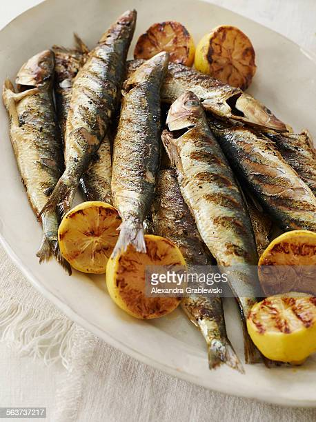 Grilled Sardines and Lemon