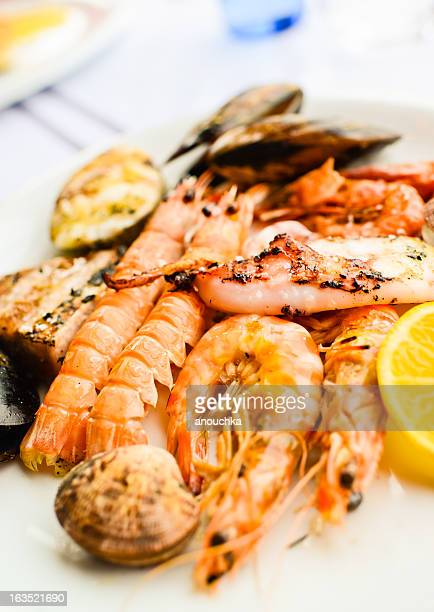 Grilled Seafood and Mixed Fish Plate