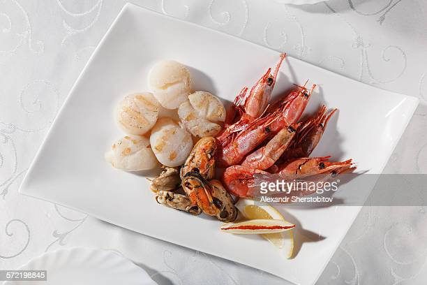 Grilled seafoods
