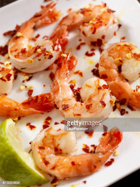 Grilled Shrimp Marinated in Tequila and Lime