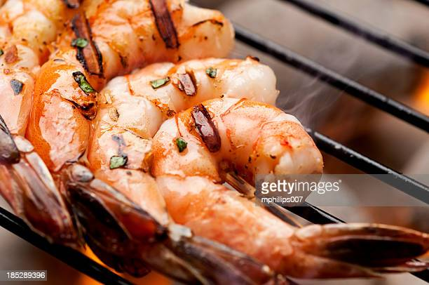 grilled shrimp - seafood stock pictures, royalty-free photos & images