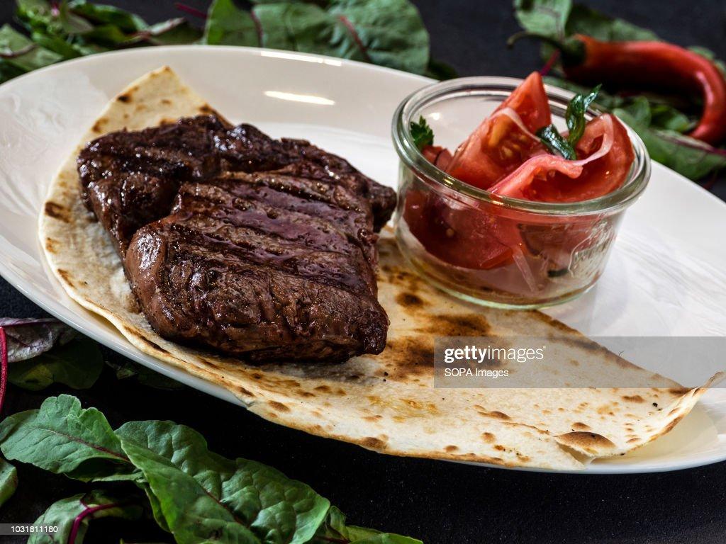 Grilled steak... : News Photo