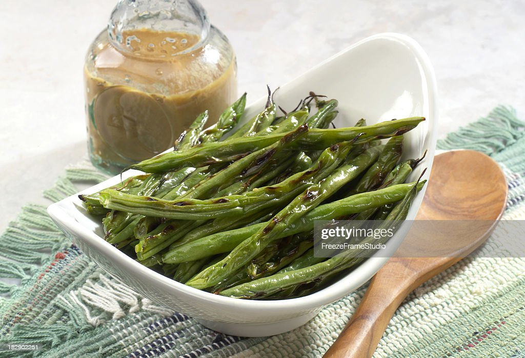 Grilled String Beans : Stock Photo