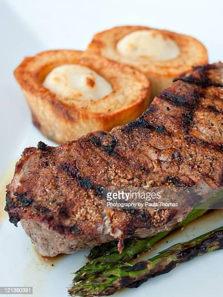 Grilled strip steak of new york