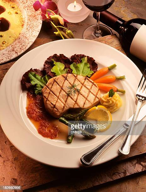 grilled swordfish - swordfish stock pictures, royalty-free photos & images