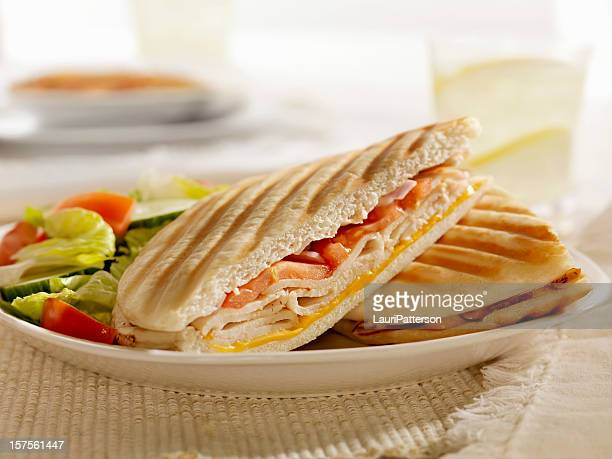 Grilled Turkey, Cheese and Tomato Panini