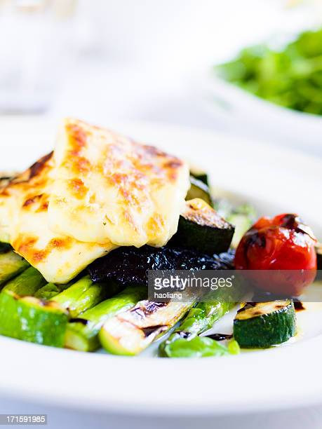 grilled vegetable&haloumi salad