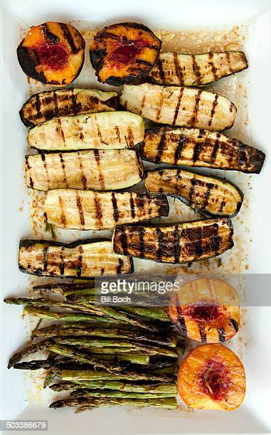 Grilled vegetables and fruit