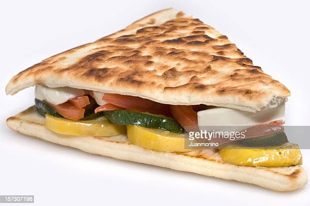 Grilled vegetables and mozarella Panini