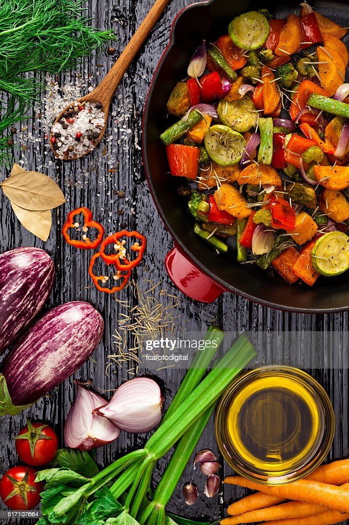Grilled vegetables : Stock Photo